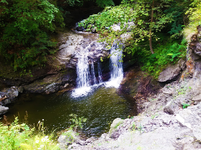 Cadere de apa pe traseul Lotrisor - Poiana Tarsa