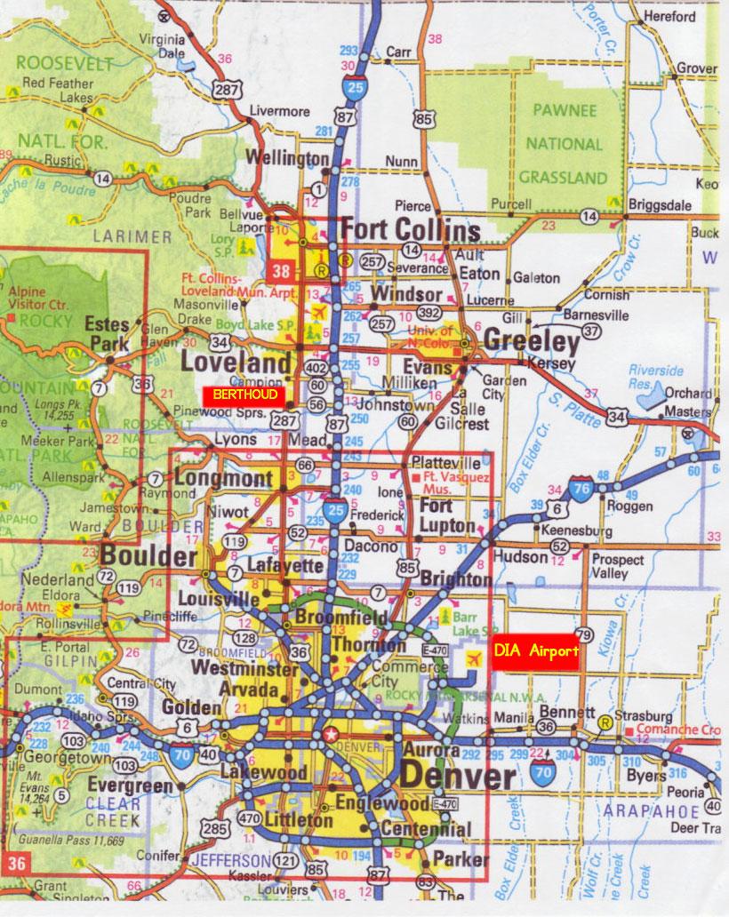Map Co Denver Metro Area Zip Code