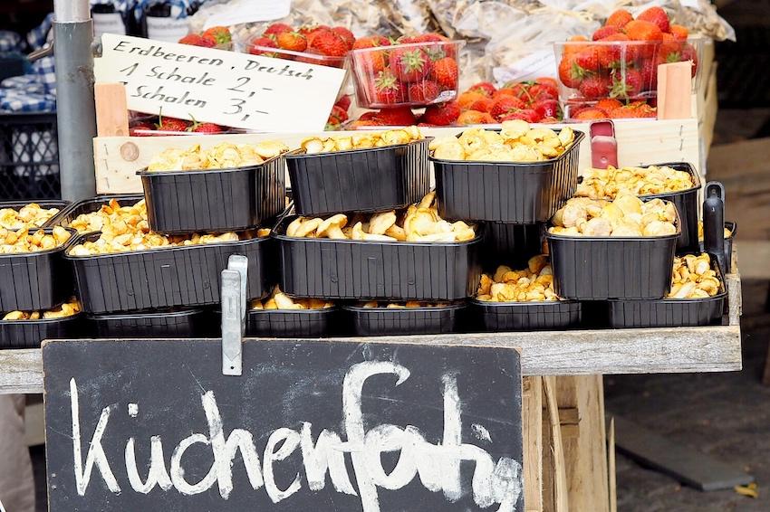 Schwammerl und Pilze am Viktualienmarkt