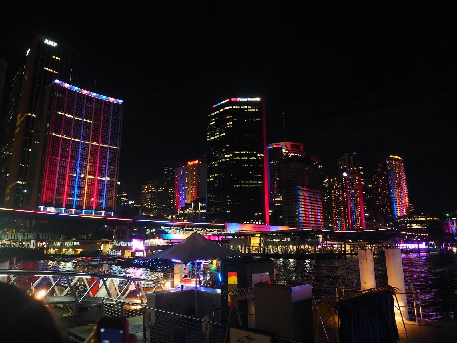 Vivid Sydney Circular Quay Buildings