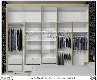 Dalam lemari minimalis full plafon cabinet unit Ace