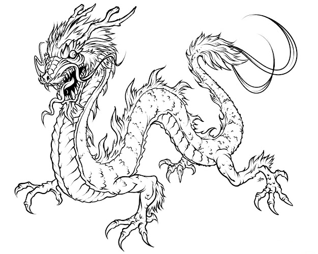 Fanacy Printable Coloring Pages For Adults  Free Printable Dragon Coloring  Pages For Kids