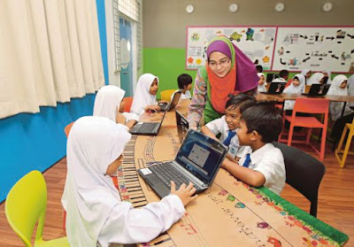 E-learning Malaysia School Children Student Pupil