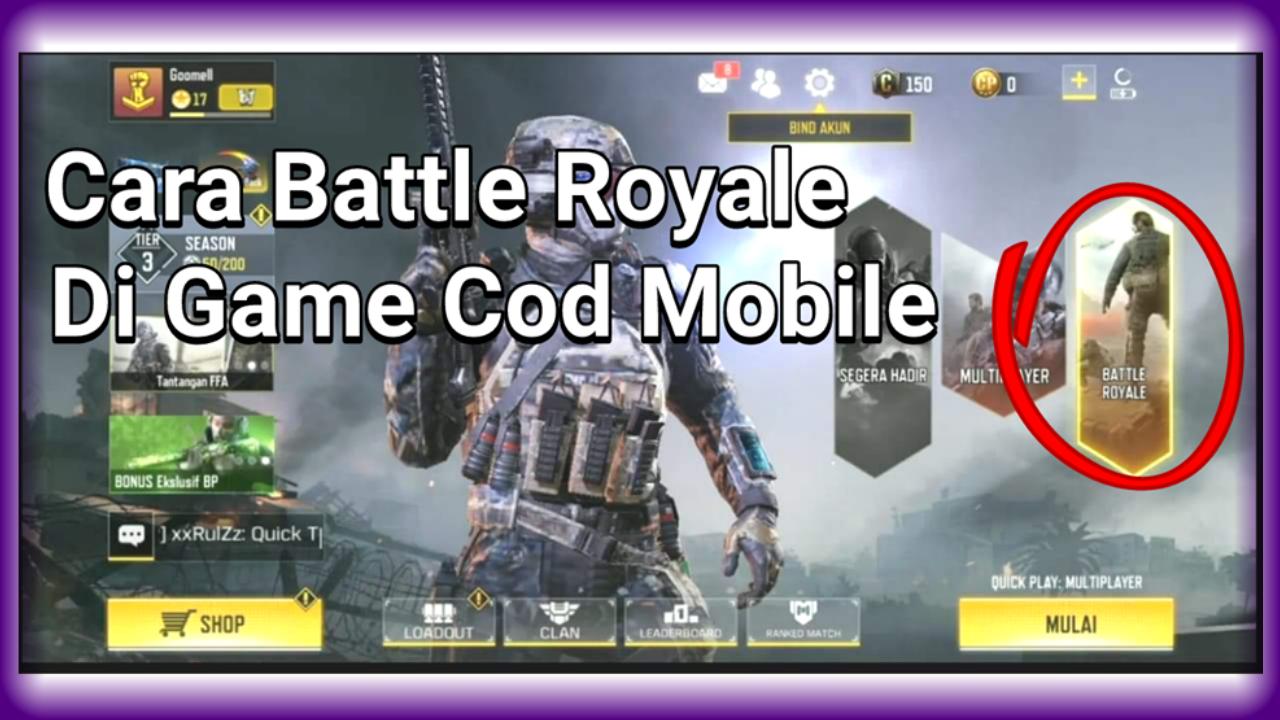 Cara Bermain Battle Royale Di Game Call Of Duty Mobile