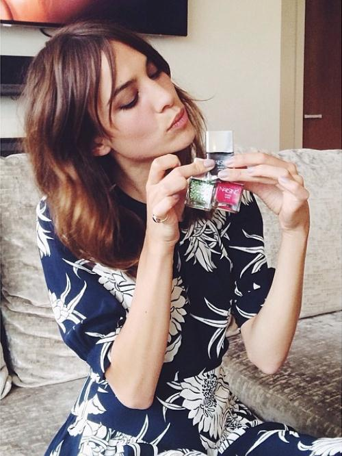 Nails Inc 'NailKale' Fall/Winter 2014 Campaign featuring Alexa Chung