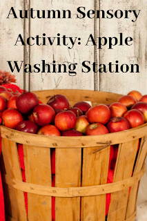 Autumn Sensory Activity: Apple Washing Station