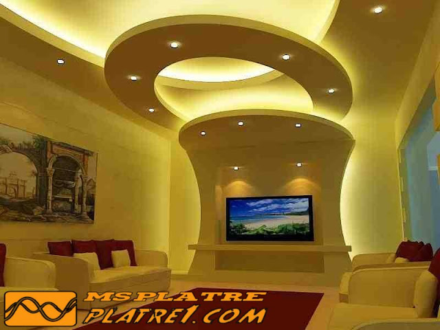 conception plafond suspendu lumineux ms timicha d coration d 39 int rieur et mobilier design. Black Bedroom Furniture Sets. Home Design Ideas