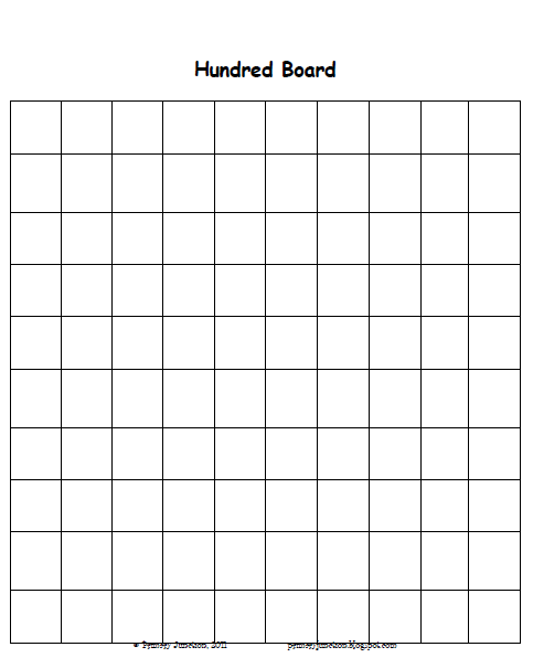 Number Names Worksheets blank 100 chart for kindergarten : Primary Junction: Skip Counting Using A Hundred Board