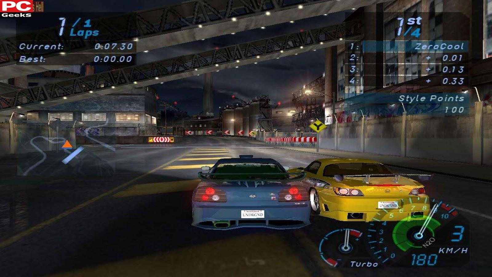 تحميل لعبة need for speed 4
