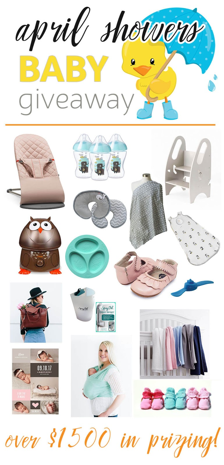 April Shower Baby Giveaway - over $1500 in prizes!
