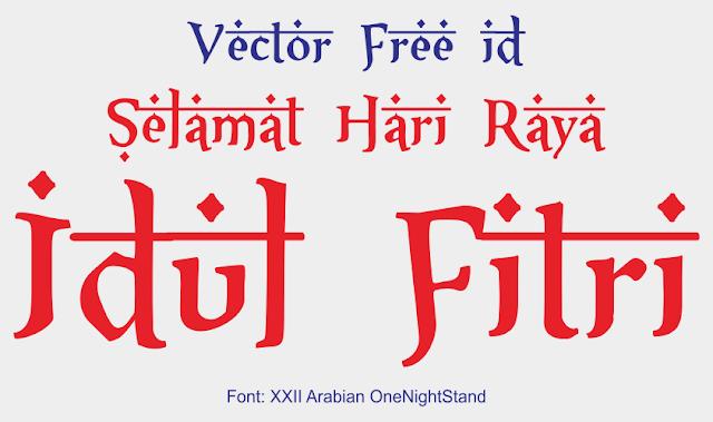 Font XXII Arabian OneNightStand