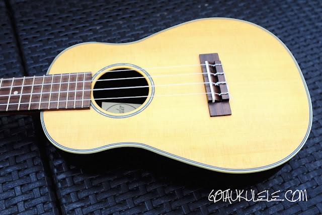 Clearwater roundback concert ukulele body