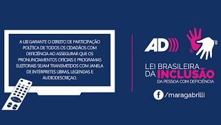 Acessibilidade está prevista em pronunciamentos oficiais na Lei Brasileira da Inclusão - acessibilidade na comunicação