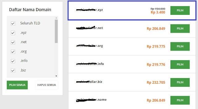 domain xyz paling murah