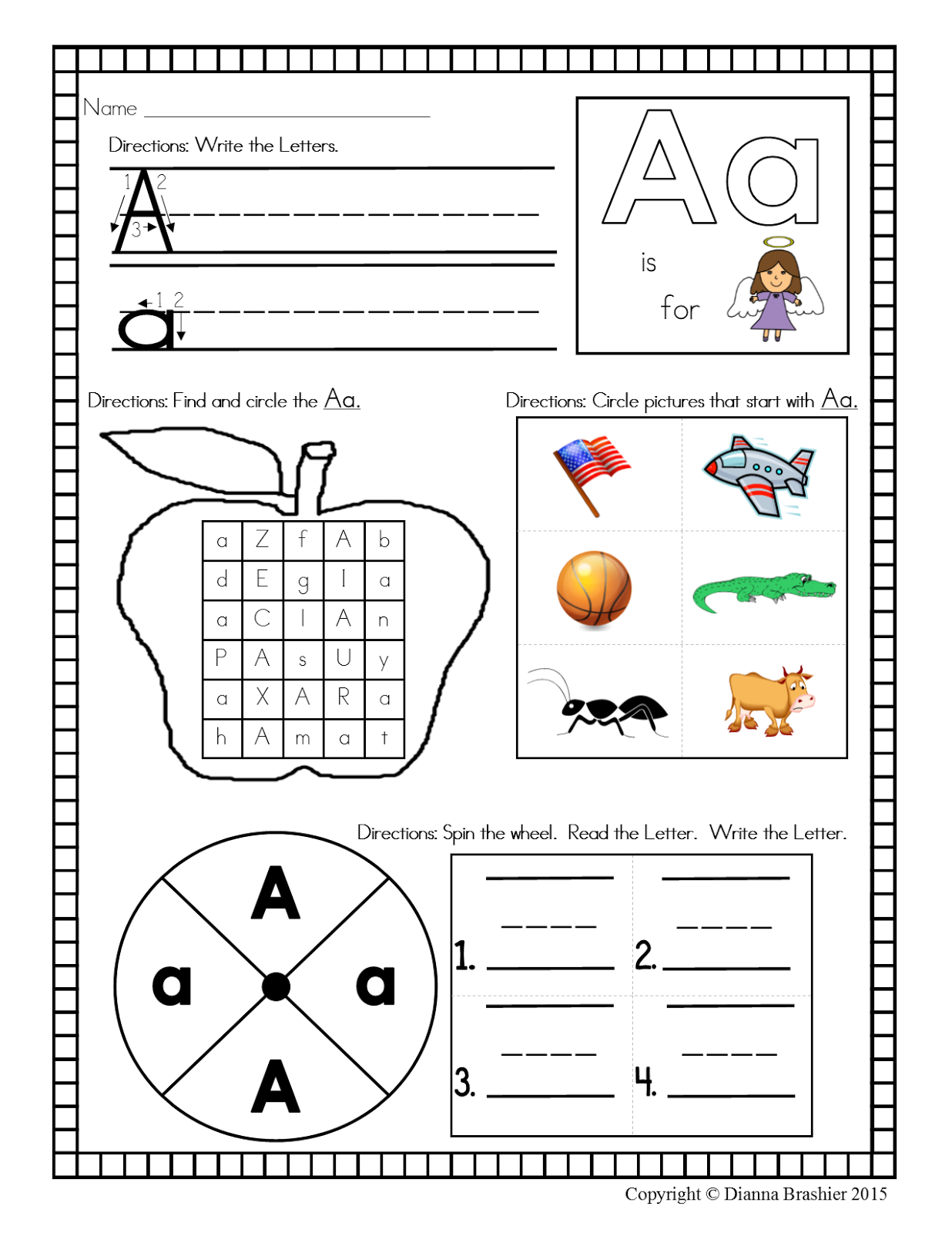 Teachers R Us Alphabet Worksheet With A Christian Theme