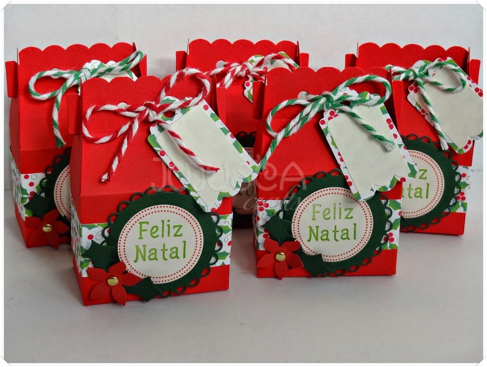 Jujusca Crafts Natal 2014 Caixinhas Para Lembran 231 As Doces