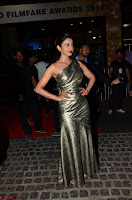 Rakul Preet Singh in Shining Glittering Golden Half Shoulder Gown at 64th Jio Filmfare Awards South ~  Exclusive 022.JPG