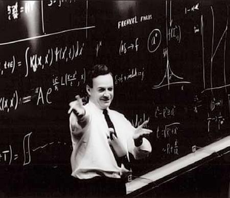 Resultado de imagen de Richard Feynman en sus clases