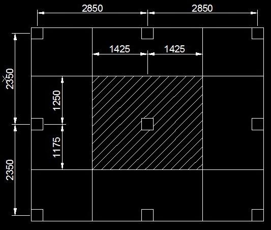 Design of Columns Influence Area