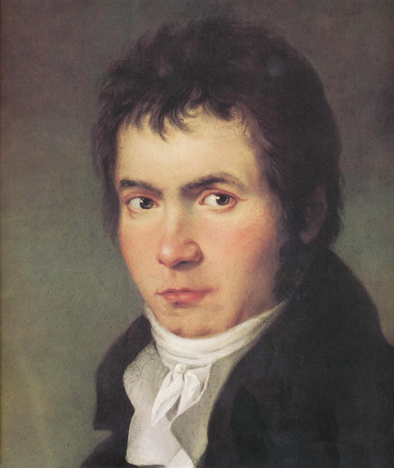 Retrato de Beethoven (pintura de W.J. Mähler)