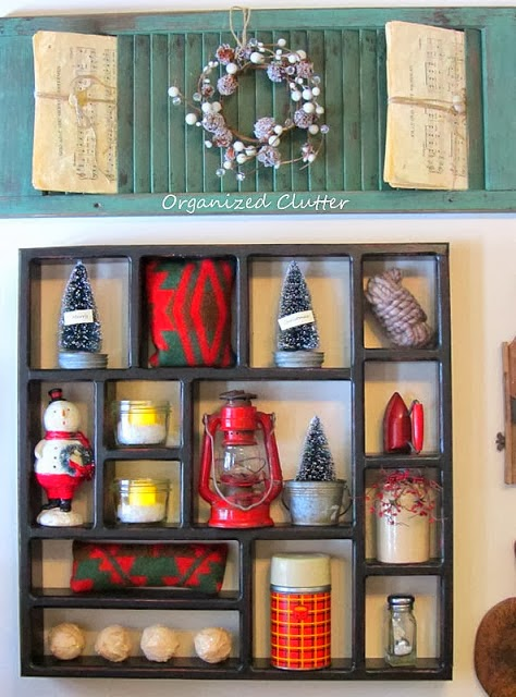 Kitchen Shadow Box www.organizedclutterqueen.blogspot.com