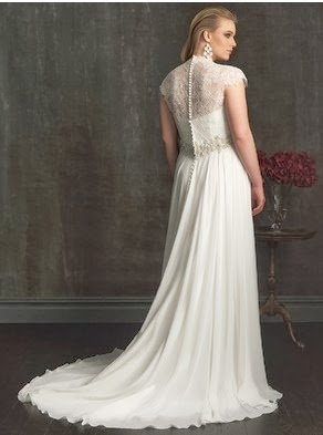 Lovely Flowing A-line Bridal Dress by Allure Women W321