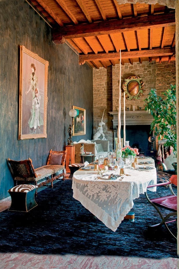 Interiors Design : Home of Fashion Roberto Cavalli Florence, Italy by Cool Chic Style Fashion