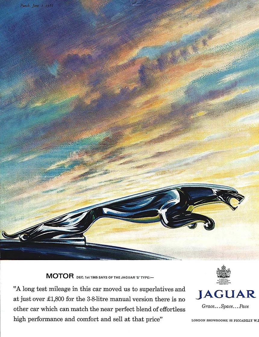 1965 Jaguar hood ornament