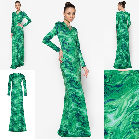 Fesyen Trend Terkini Baju Raya 2016 By Rizalman Marmar Collection Green