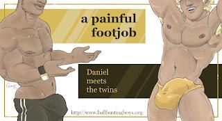 https://ballbustingboys.blogspot.com/2018/09/a-painful-footjob-daniel-meets-twins.html