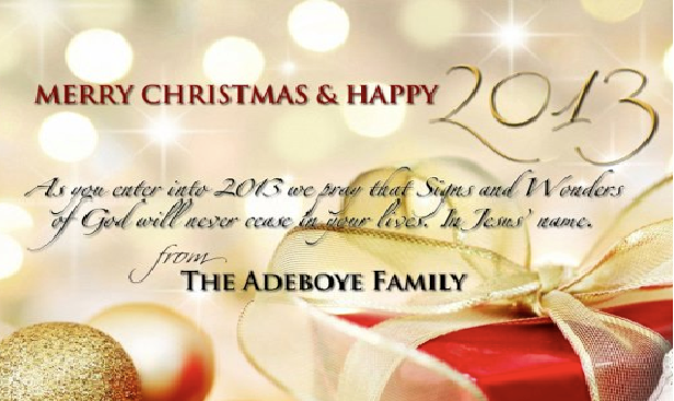 pastor adeboye family christmas card