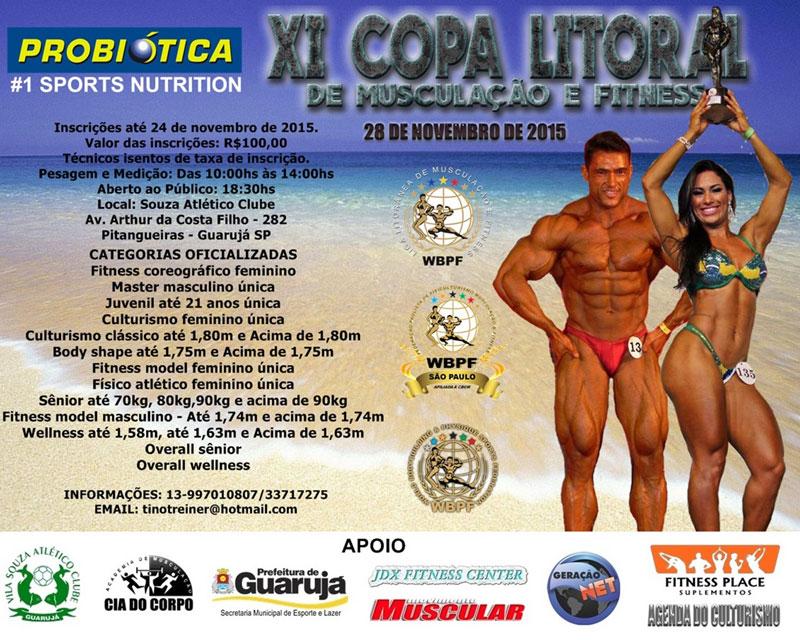 XI Copa Litoral de Musculação e Fitness. Foto: Divulgação