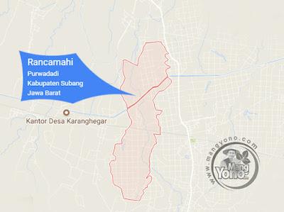 PETA : Desa Rancamahi, Kecamatan Purwadadi