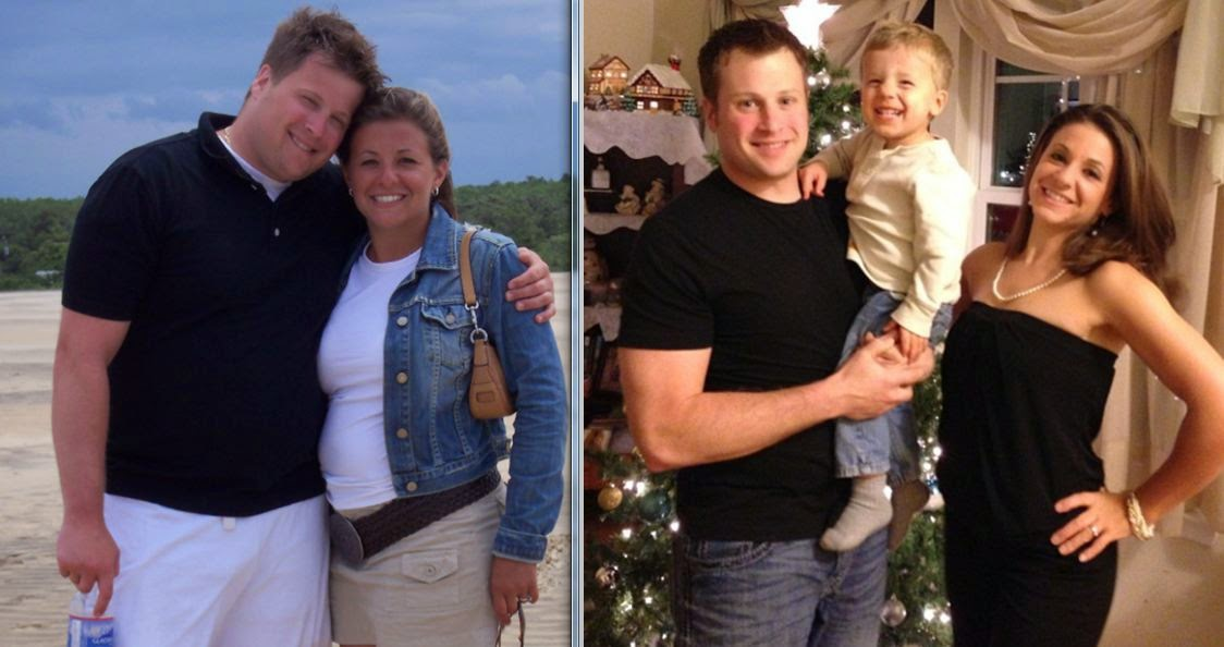 couples weight loss transformation