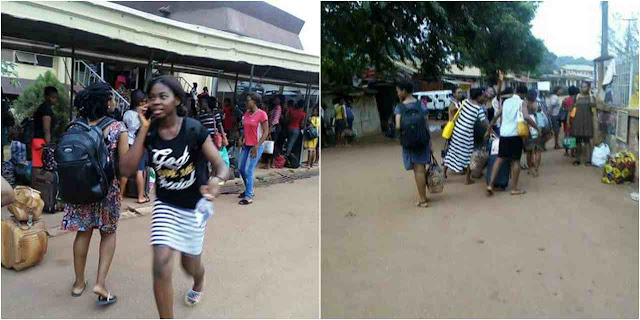 UNTH nursing students who demonstrated against their school, sent packing (photos)