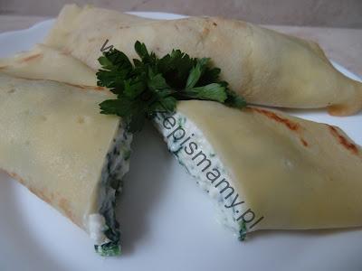 Naleśniki z serem i szpinakiem