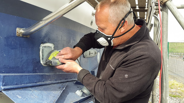 Photo of preparing for the new trim tab system to arrive