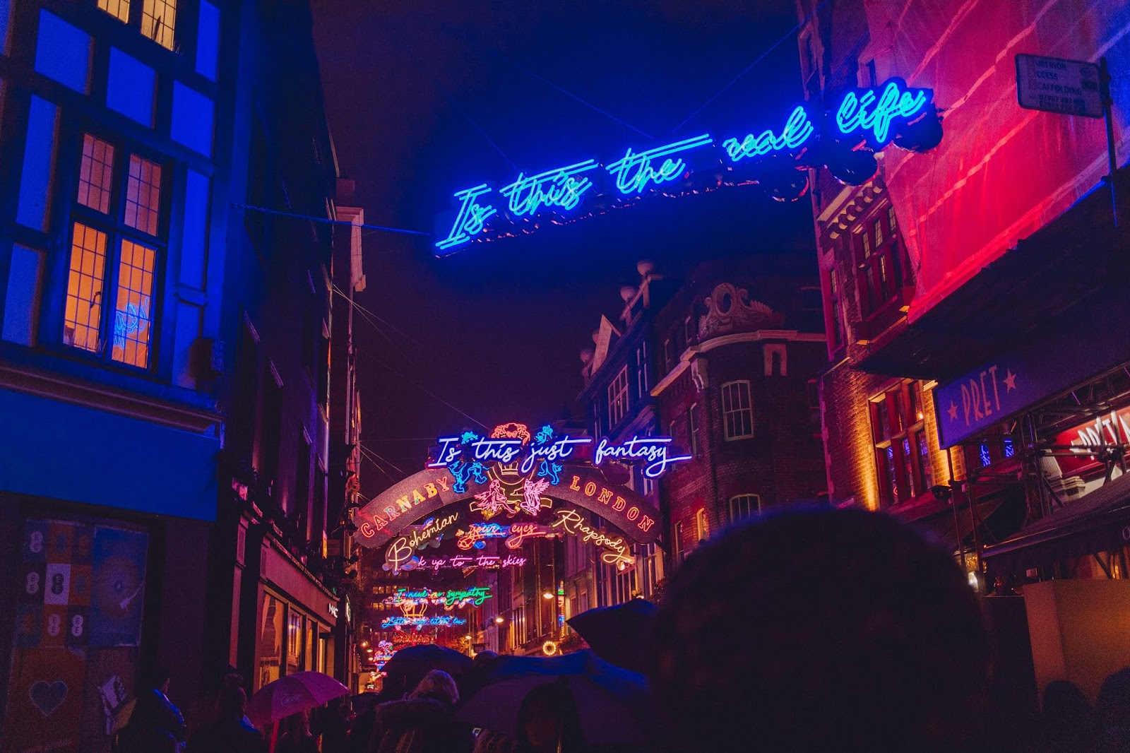 Bohemian Rhapsody lights at Carnaby Street
