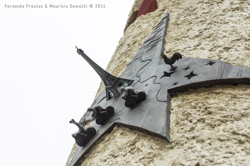 detalhe do monumento do museu de schengen