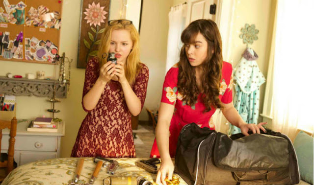 'BARELY LETHAL' (2015). Review of the teen film with Hailee Steinfeld about a girl who has a secret identity! Text © Rissi JC