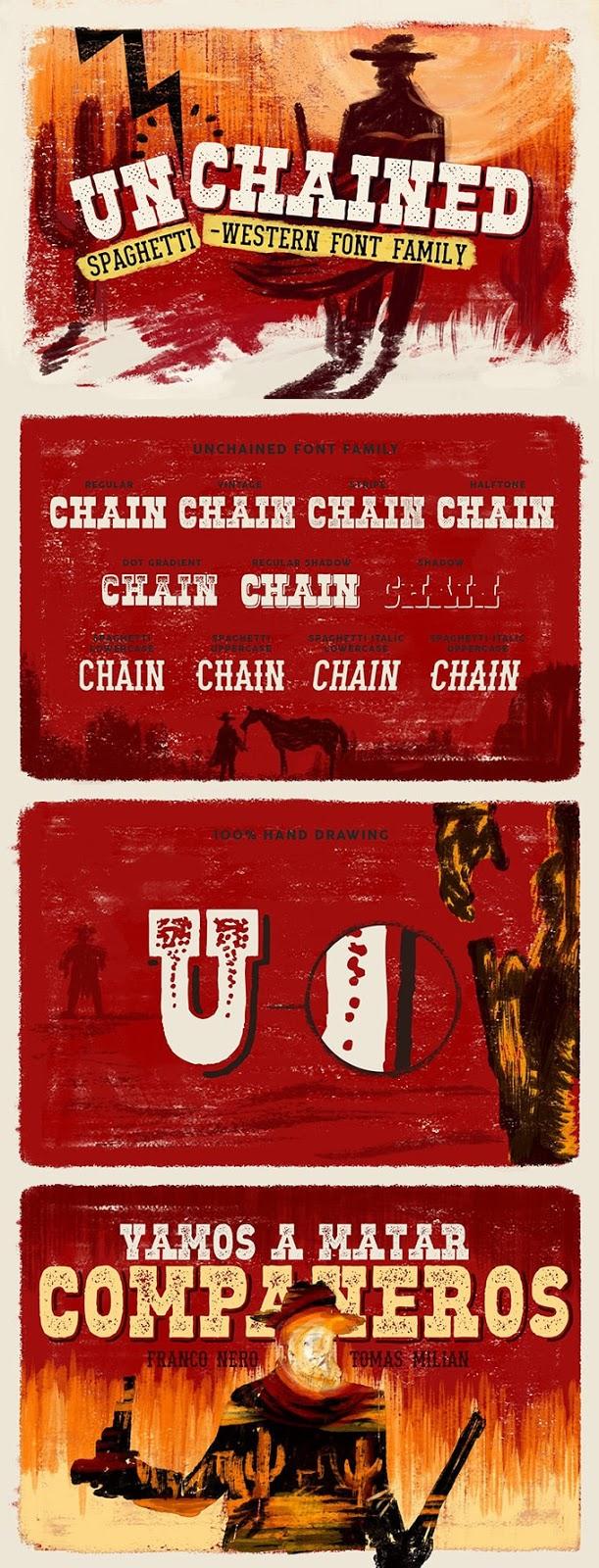 Font Edisi Januari 2017 - Unchained Font Family