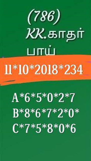 Kerala lottery abc all board guessing Karunya Plus KN-234 on 11.10.2018 by KK