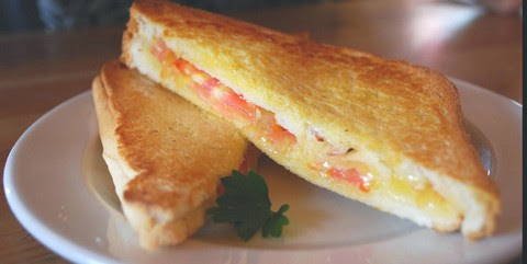Toasted Cheese and Tomato Sandwich