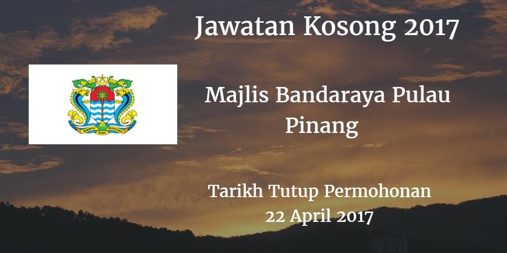 Jawatan Kosong MBPP 22 April 2017
