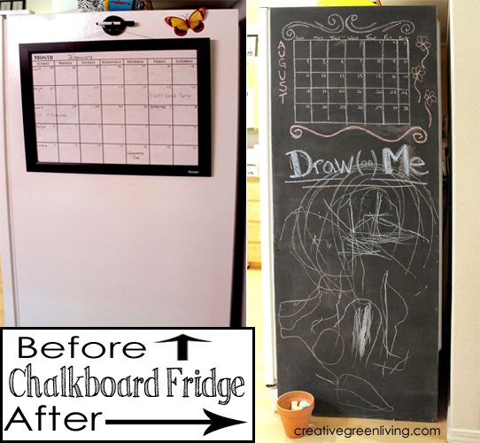 How To Paint Your Fridge With Chalkboard Paint Creative