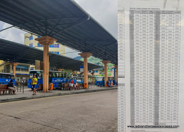 public bus timetable in Mahe Seychelles