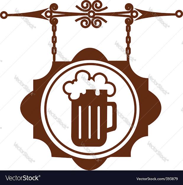 Bar Sign Post Vector Image