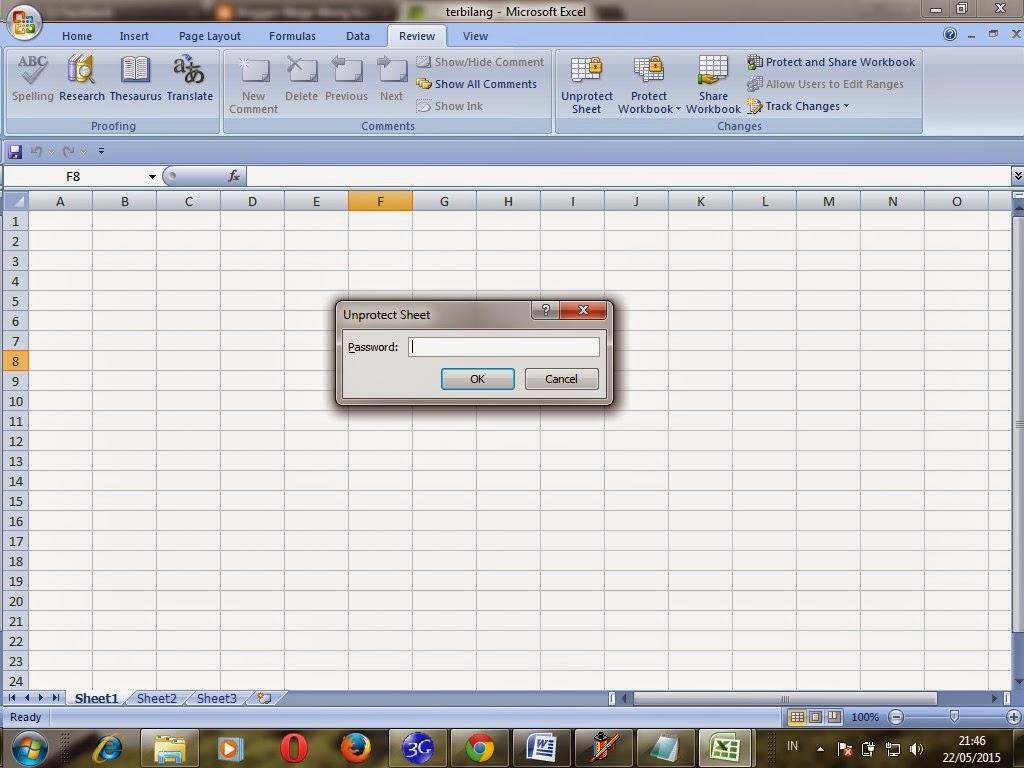 Bloge Wong Kanci Membuka Password Excel Sheet