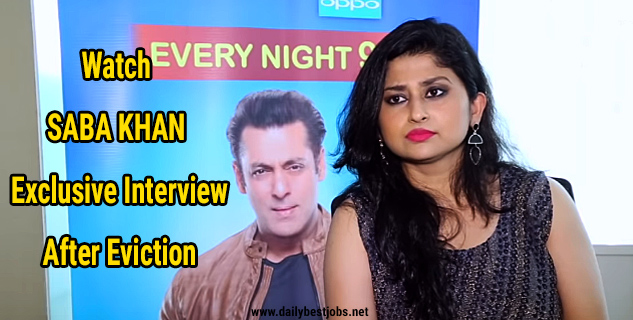 Watch Saba Khan Exclusive Interview After Eviction From Bigg Boss 12