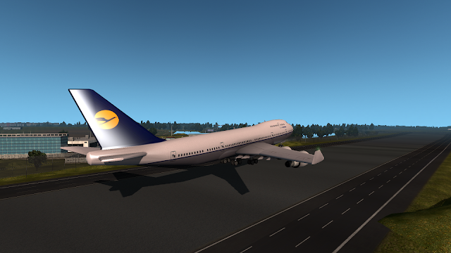 ets 2 real plane livery mod screenshot 1, lufthansa